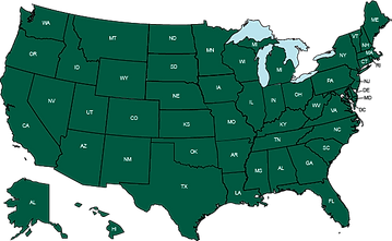 United States map and national territory