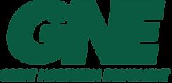 white GNE logo