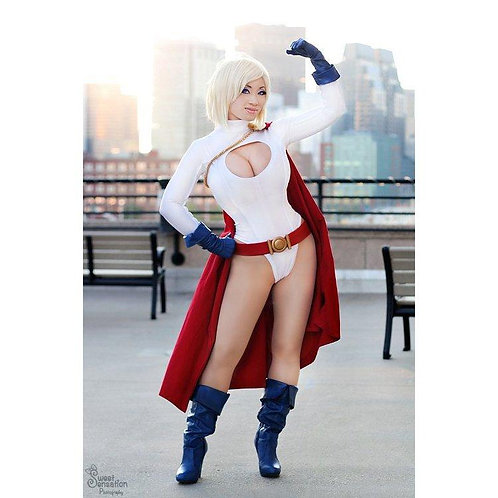 Signed Poster - Powergirl Hero Stance