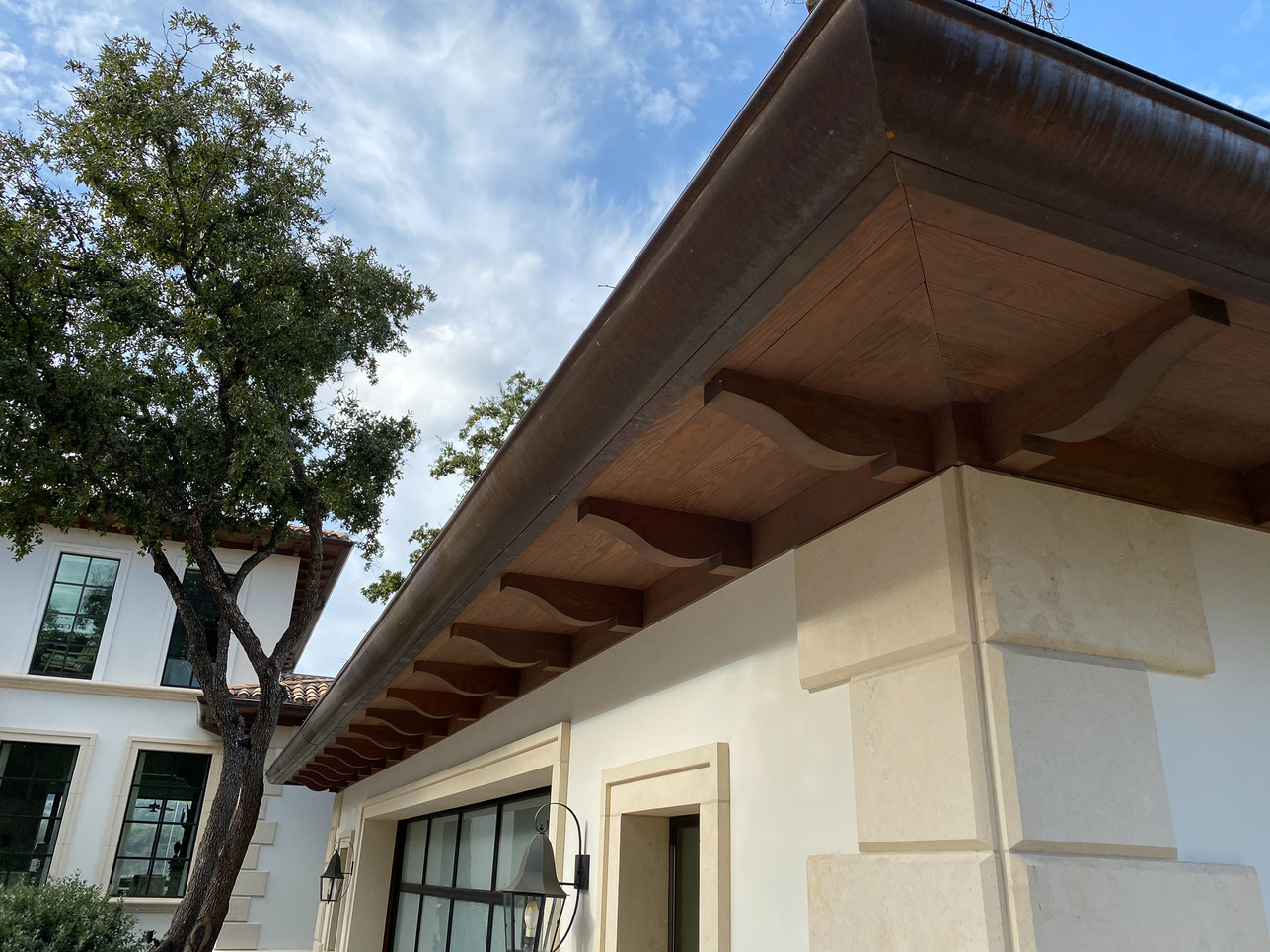 Quarter-Round Copper Gutters with Round
