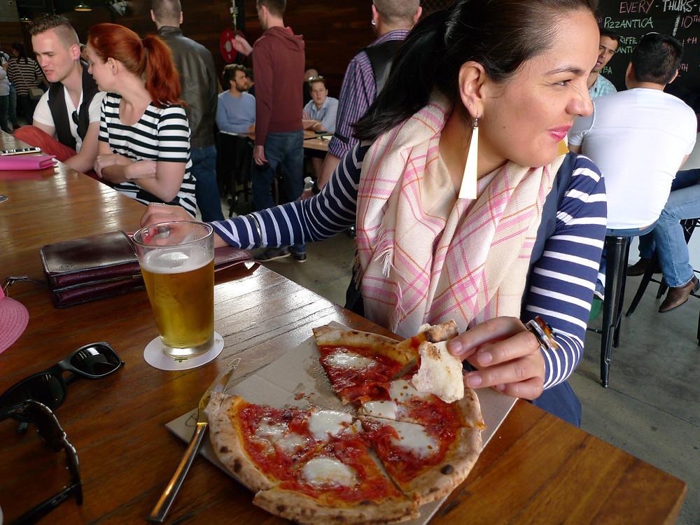 Mrs OST, a Kolsh and a Pizzantica Diavola Pizza