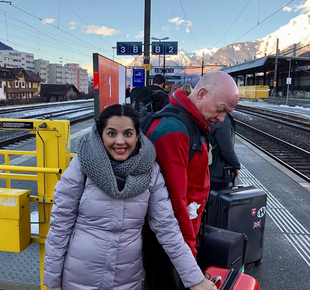 Kati at Sion Train Station