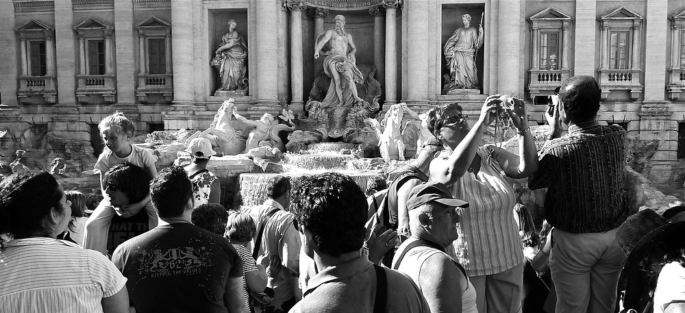 The Newly Restored and Very Popular Trevi Fountain