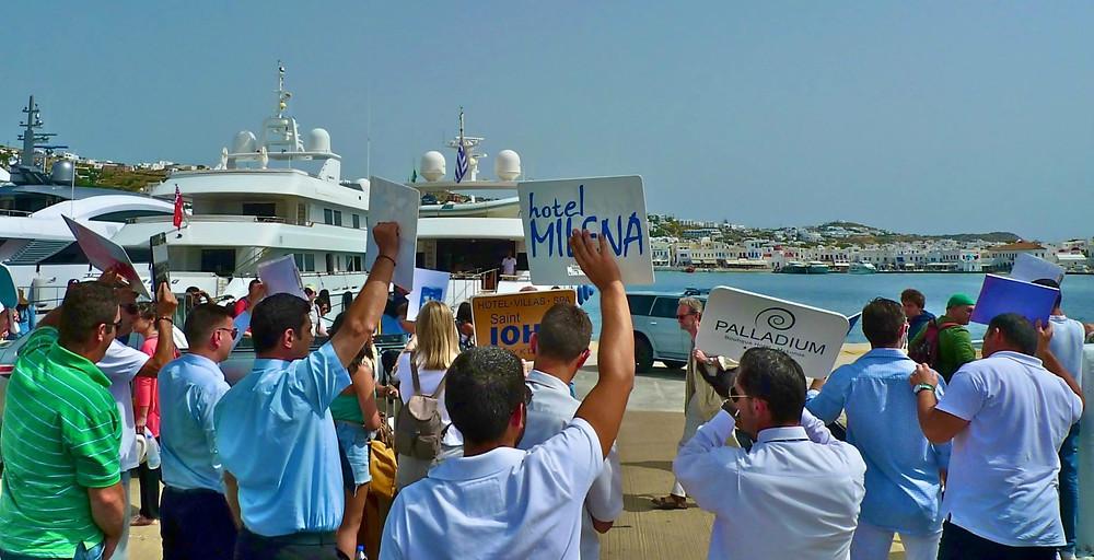 Mykonos Disembarkation