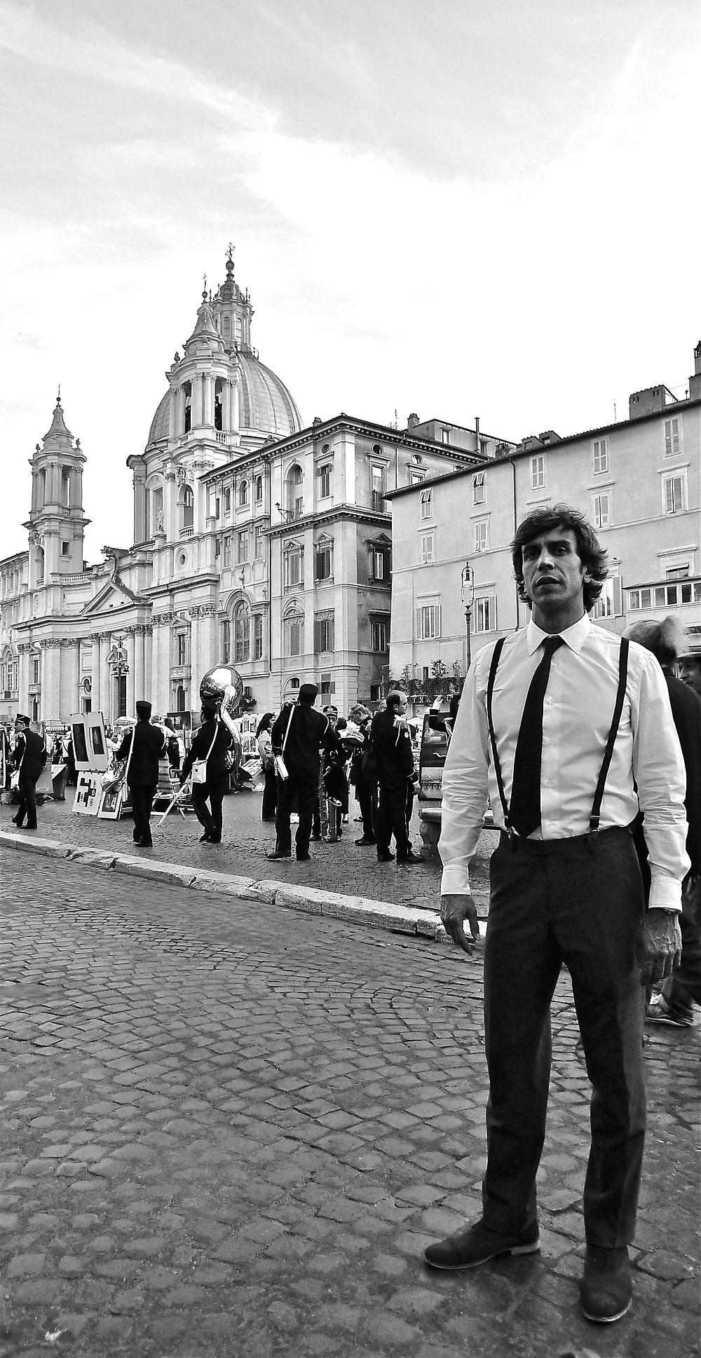 Waiter in Piazza Navona