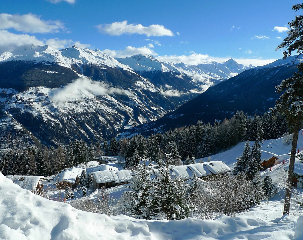 View from Les Collons to the Matterhorn