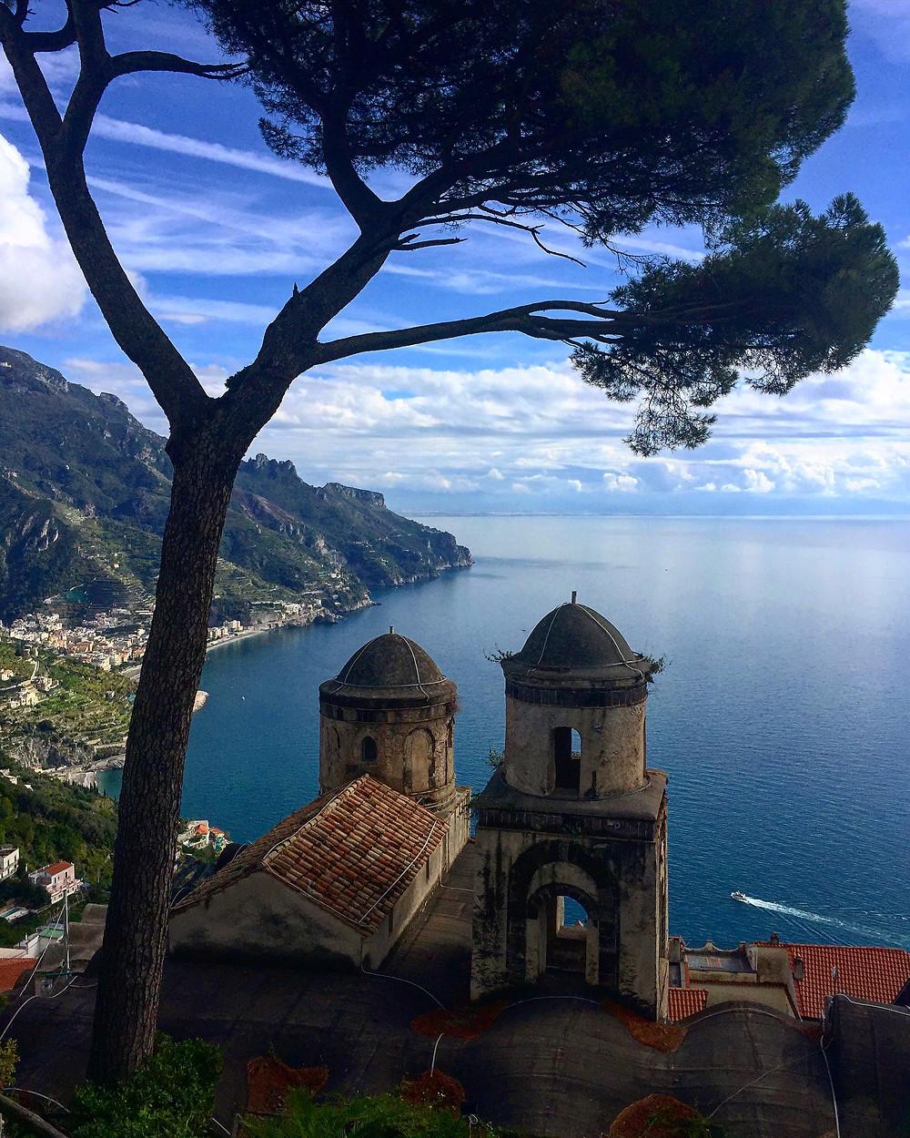 Amalfi Coast from Villa Rufolo.