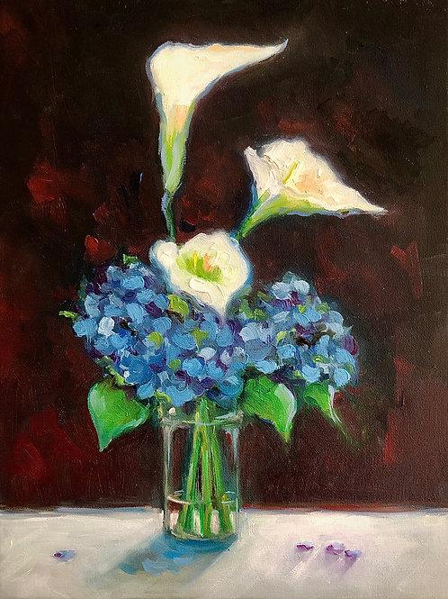 ' Calla Lillies and Hydrangeas'