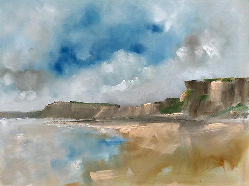 ' Sunlight on Tresilian Cliffs '