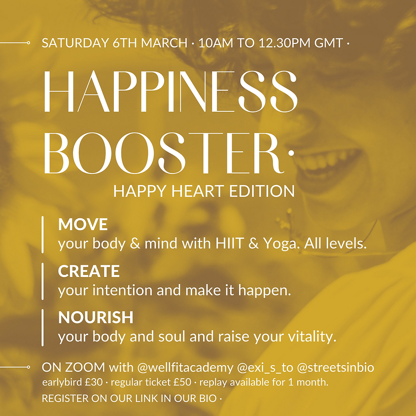 Happiness Booster . Happy Heart Edition . 6 March .