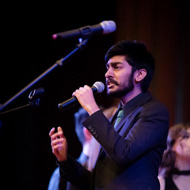 Madhav Prasad performing  SLOW DANCING by Joji at the 2018 Fall Concert: Walgreenes
