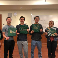Newbies pose for their initiation into Greenies (Fall 2020)