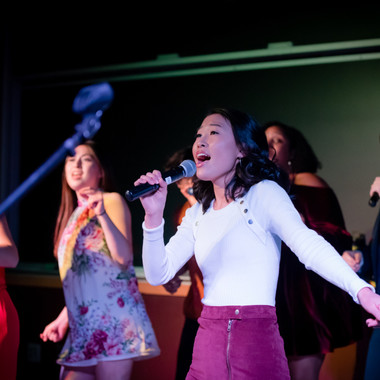 Allison Choe performing My Boo by the Ghost Town DJs during Dance Mix at the 2019 Fall Concert: Greenie Night Live