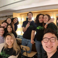 Greenies pose for a selfie in the Lydia Mendelssohn Theater dressing room prior to PURE Dance Gig (Winter 2019)
