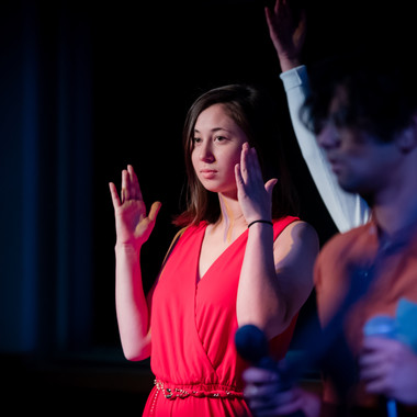 Caroline Bromberg posing during Dance Mix at the 2019 Fall Concert: Greenie Night Live