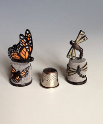 Monarch and Dragonfly Thimbles