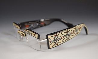 Contemporary Buffalo Horn Reading Glasses