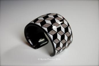 """""""Escher-ish"""" Buffalo Horn Bracelet"""
