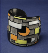Contemporary Buffalo Horn Cuff Bracelet