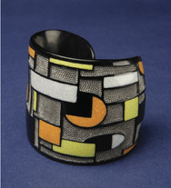 Contemporary Buffalo Horn Cuff Bracelet