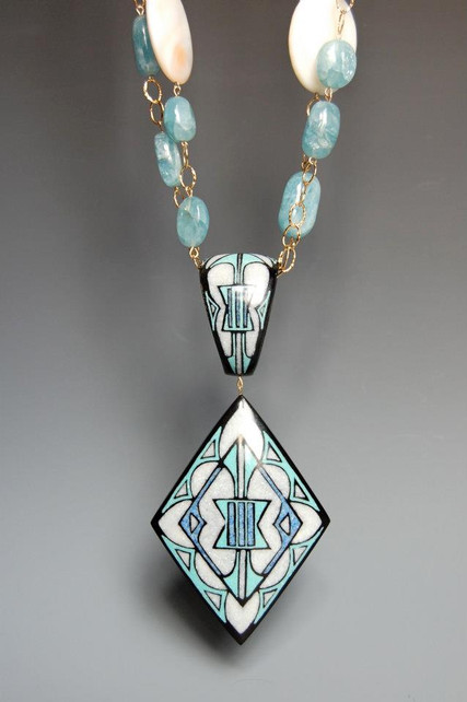 Inlaid Buffalo Horn Necklace
