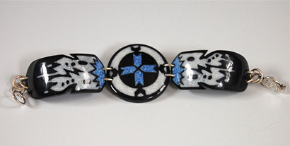 Medicine Wheel with Feathers Link Bracelet