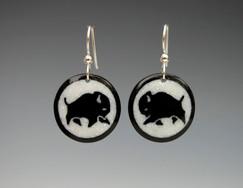 Buffalo Horn Earrings