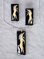 Horse Nation Buffalo Horn Pendant and Earrings