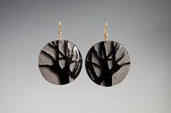 Buffalo Horn Tree Earrings