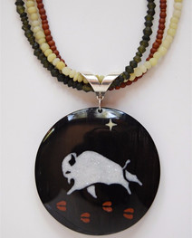 White Buffalo Pendant