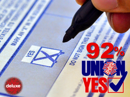Deluxe Culver City Votes Union Yes!
