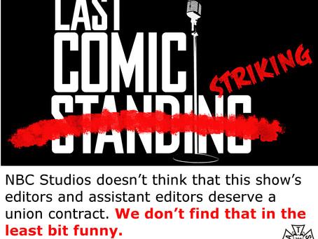 "Post Crew Halts Work on ""Last Comic Standing"""
