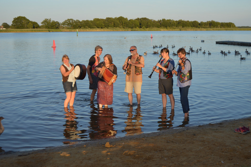 Cooling off in Hickling Broad