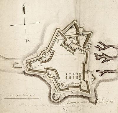 План Звіринецького укріплення (ЦДІАК)