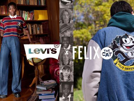 LEVI'S® 攜手 Felix the Cat 合作,打造 2021秋冬校園風聯名系列
