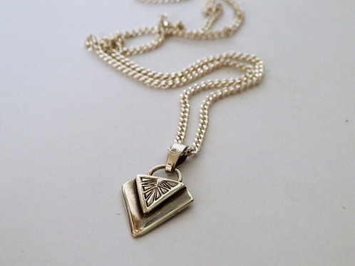 STERLING STAMPED ARROW NECKLACE