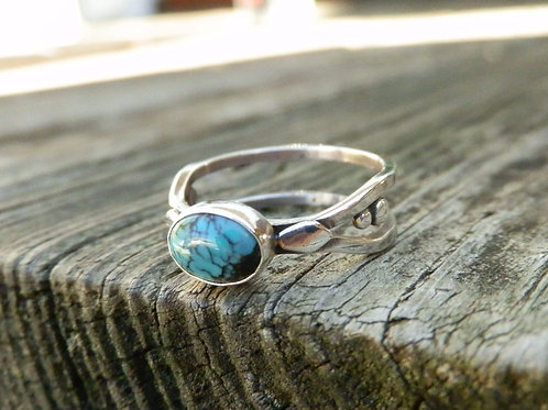 TURQUOISE DOUBLE BANDED RING