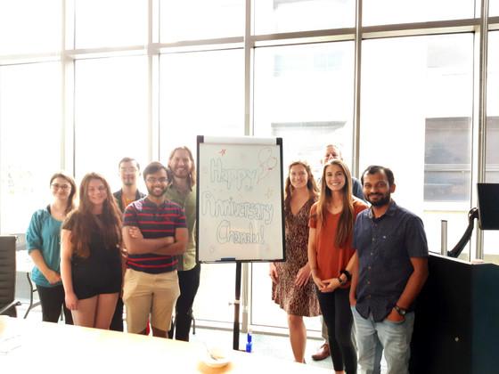 Chandu's first anniversary in lab!