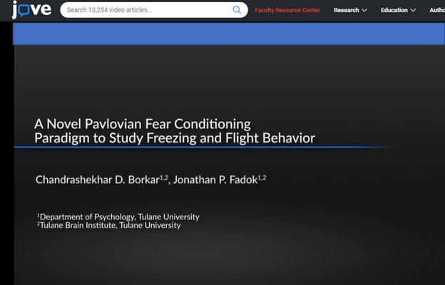 Fadok Lab published flight paradigm in JoVE
