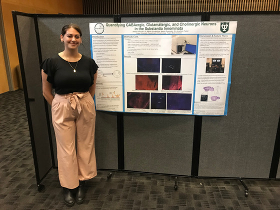Natalia presents the lab's first poster!