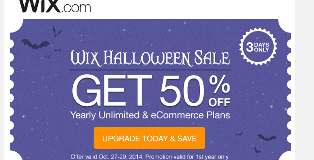 Get 50 Off Wix Yearly Unlimited Ecommerce Premium Plans 2019 Wix Promo Codes Discount Madpap