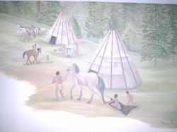Sawyer's Indian Theme Mural