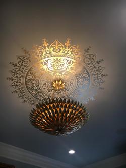 Gleaming Ceiling Mandala