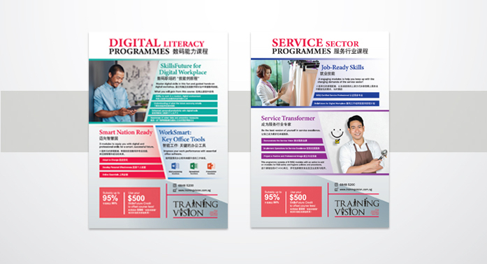 Training Vision Institute programme posters
