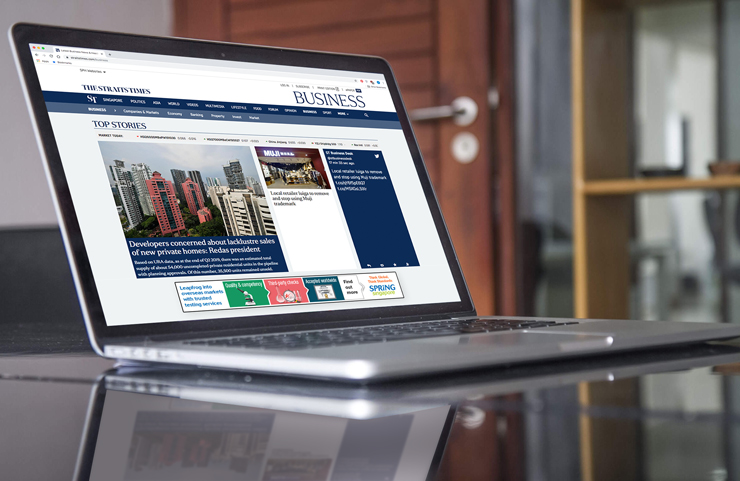 Leaderboard digital display ad