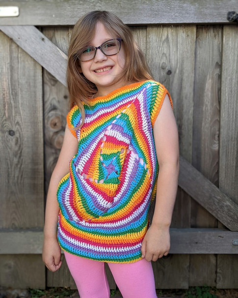 Rainbow Sparkle Kids Kaleidoscope Top