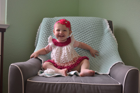 Toddler dress + Baby Blanket