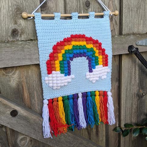 Rainbow Puff Wall Hanging - Crochet Pattern