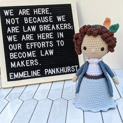 Emmeline Pankhurst Doll