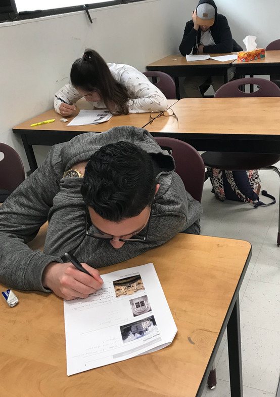 Concentration durant un examen